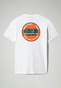 Napapijri - S-ALHOA - T-shirt med print - white graph m - 7