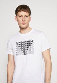 KARL LAGERFELD - CREWNECK - Print T-shirt - white - 4