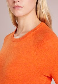 pure cashmere - CLASSIC CREW NECK  - Strikkegenser - orange - 4
