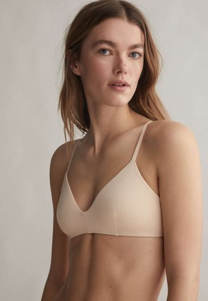 Triangle bra - beige