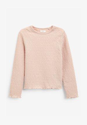 SHIRRED LONG SLEEVE  - Long sleeved top - pink