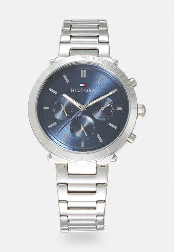 EMERY - Watch - silver-coloured/blue