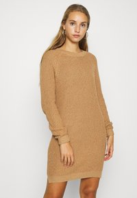 Noisy May - NMSIESTA O-NECK DRESS - Jumper dress - camel - 0