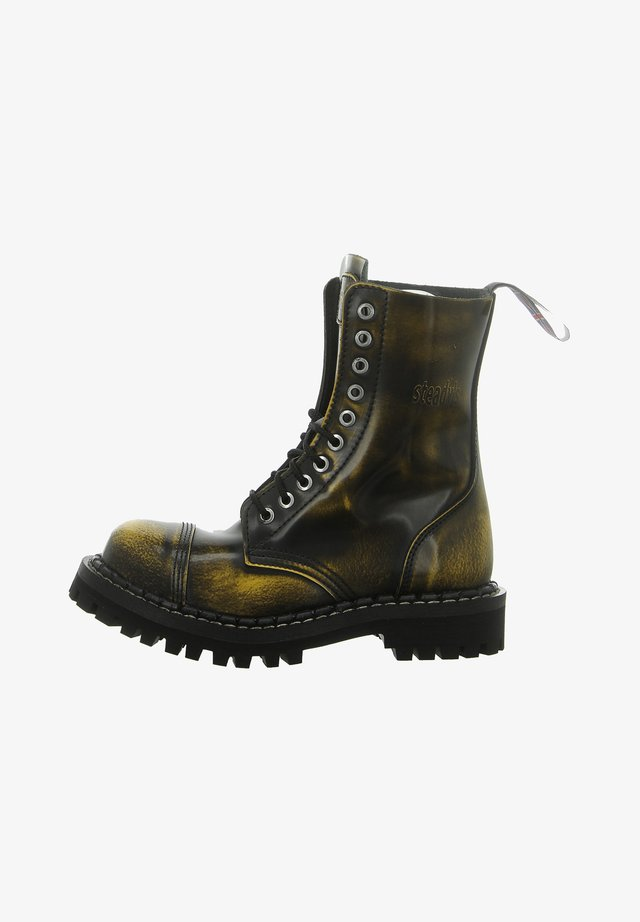 Platform boots - black/yellow