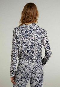 Oui - Button-down blouse - white blue - 2