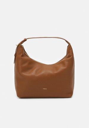 NET HOBO - Handbag - cognac