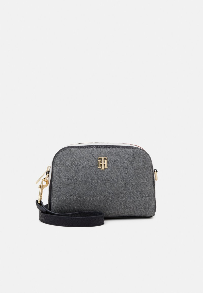Tommy Hilfiger - TH ESSENCE CROSSOVER MELTON - Across body bag - grey