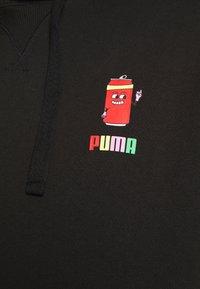Puma - DOWNTOWN GRAPHIC HOODIE - Hoodie - black - 3