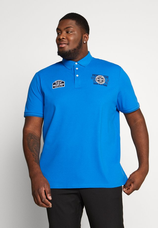 SMART WITH PATCHES - Polo - victory blue