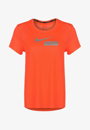 ICON CLASH - Print T-shirt - hyper crimson / metallic silver
