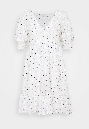 FLORAL DRESS - Day dress - white