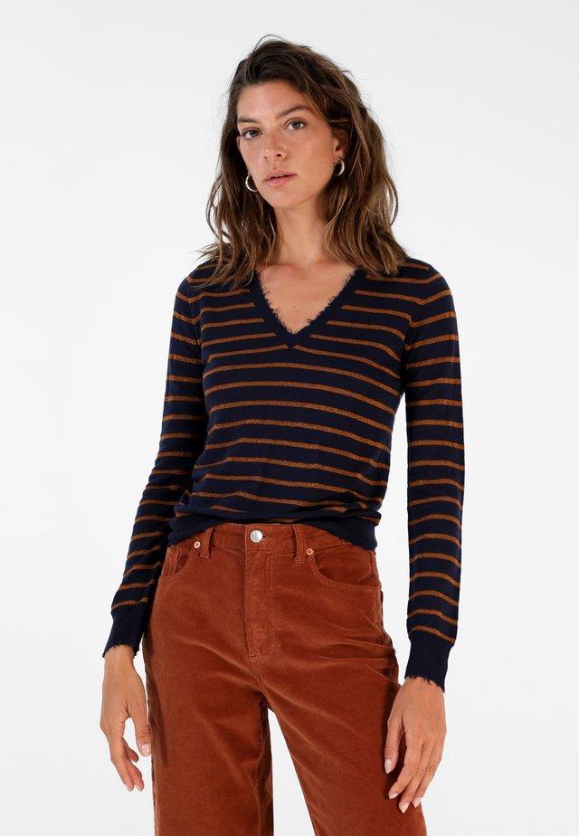 Maglietta a manica lunga - navy stripes
