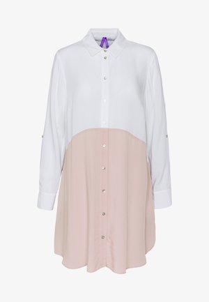 WENDY COLOUR BLOCK - Button-down blouse - blush/white