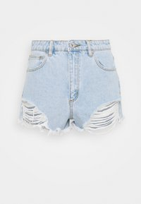 Abrand Jeans - HIGH RELAXED - Short en jean - salty stone - 4