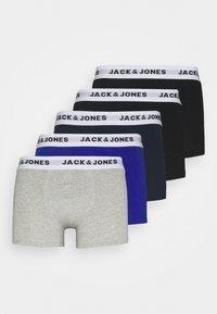 Jack & Jones - JACWHITE TRUNKS 5 PACK - Pants - black/navy blazer/surf the web/light grey melange - 5