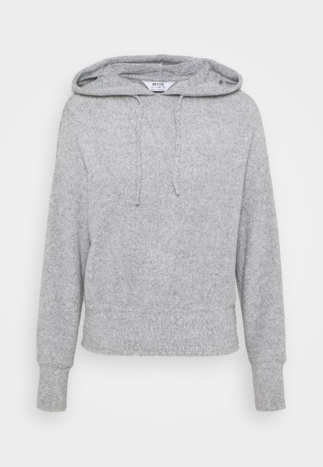 BRUSHED HOODY - Pullover - grey