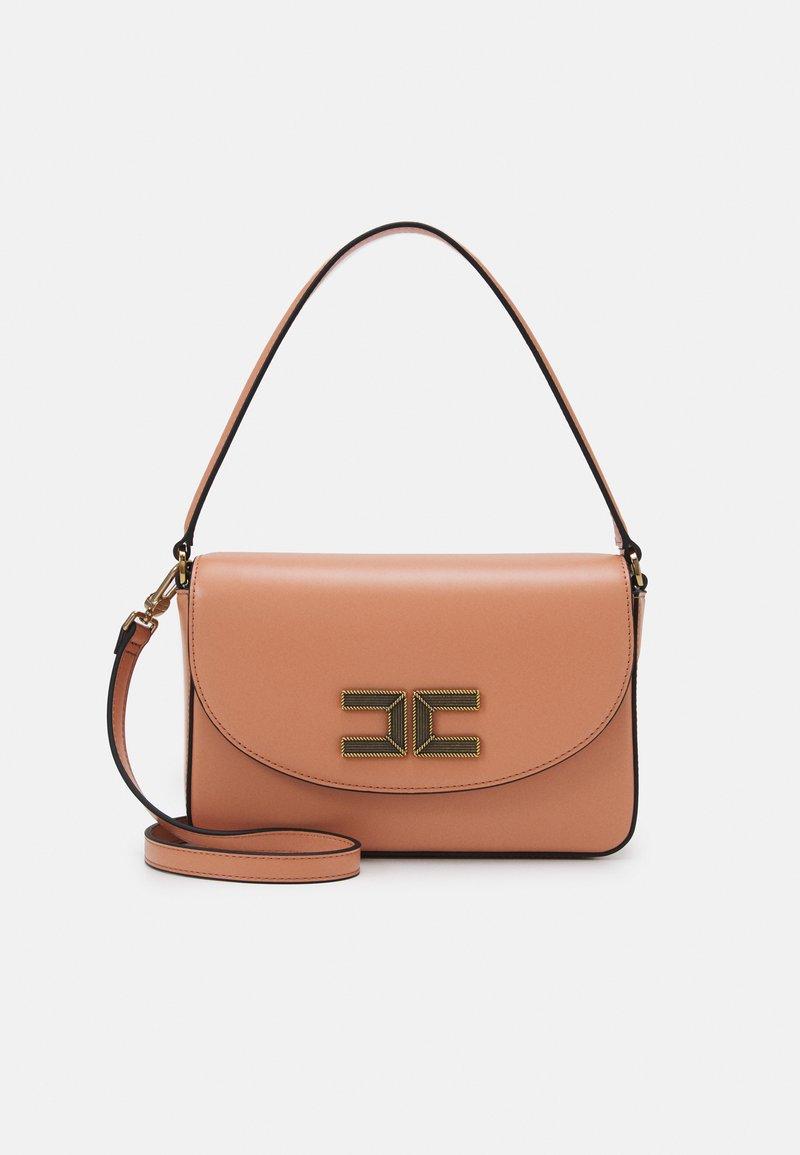 Elisabetta Franchi - BOX BAG - Handbag - rose gold/nero