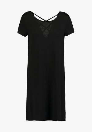 ONLBERA BACK DRESS - Jerseyklänning - black