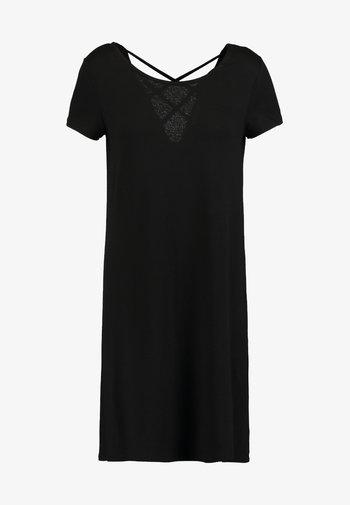 ONLBERA BACK DRESS - Jersey dress - black