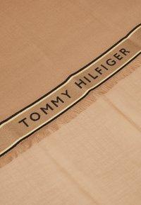 Tommy Hilfiger - LOGO BORDER SCARF - Szal - beige - 2