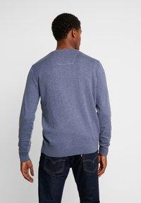 TOM TAILOR - Stickad tröja - vintage indigo blue melange - 2