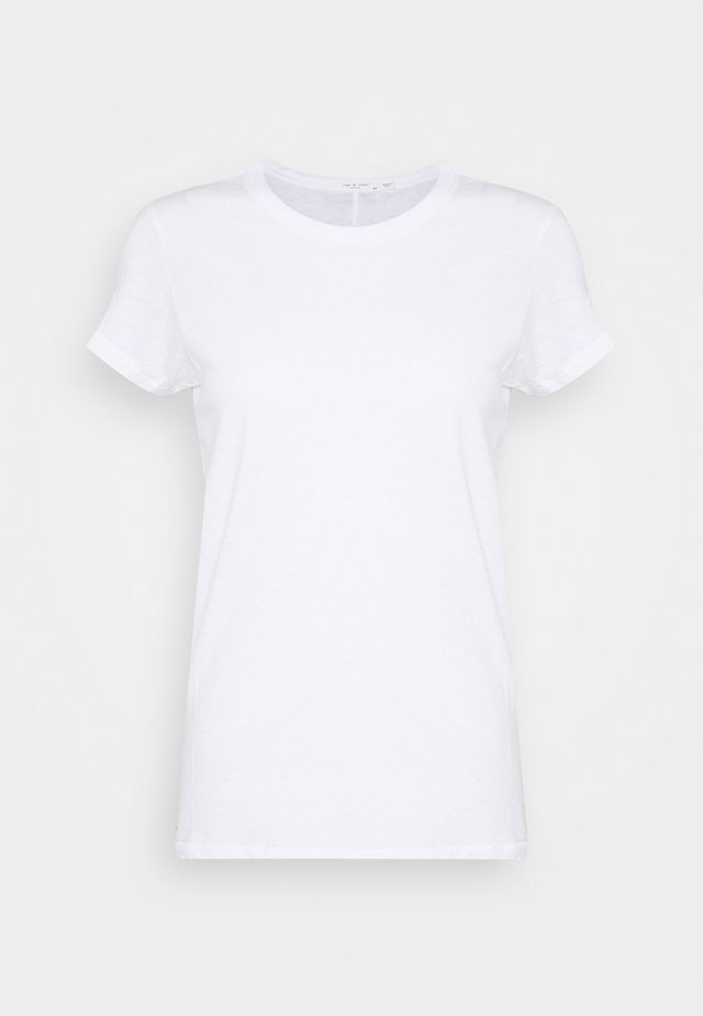 THE SLUB VEE - T-shirt - bas - bright white