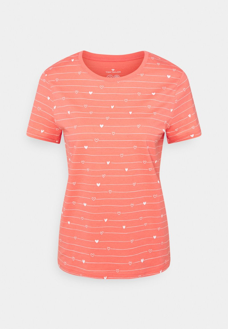 TOM TAILOR - T-shirts med print - red