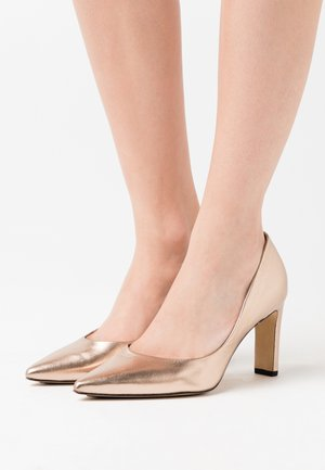 High heels - metallic gold