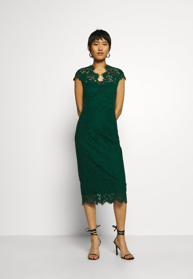 SHIFT DRESS MIDI - Cocktailklänning - eden green