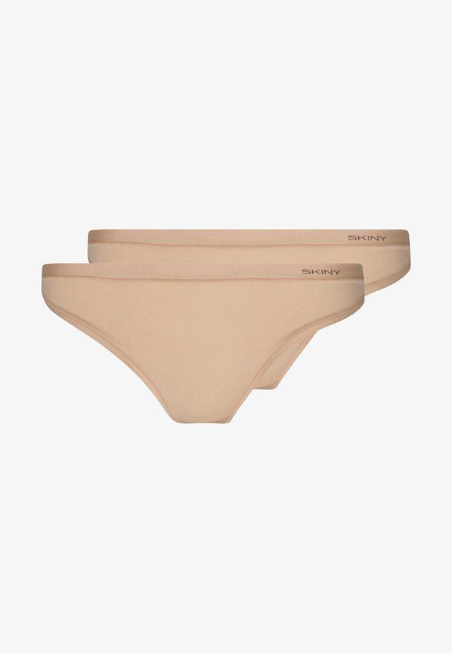 DAMEN PURE NUDITY 2 PACK  - Thong - beige