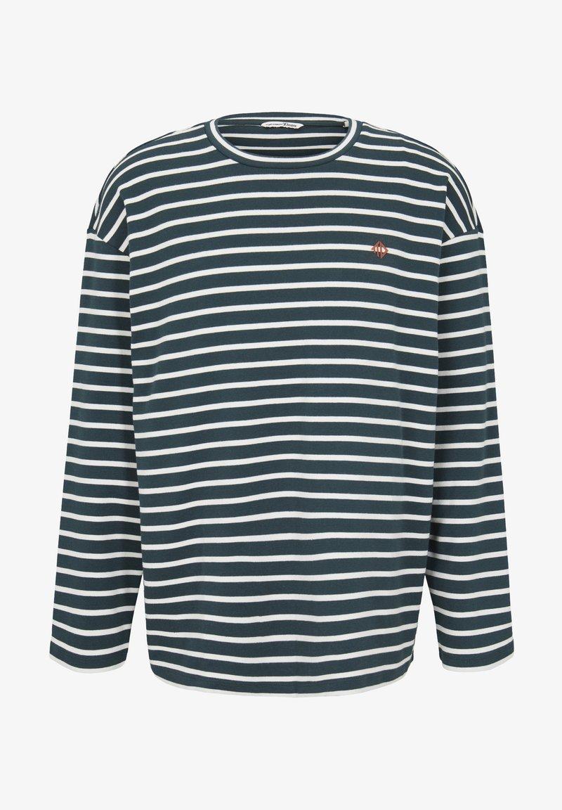 TOM TAILOR DENIM Langarmshirt - green white yd stripe/grau 24tIa9