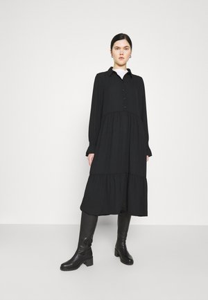 PARLY DRESS - Shirt dress - black dark unique