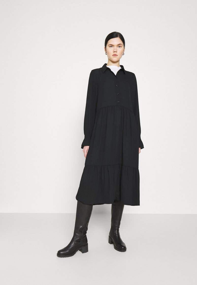 Monki - PARLY DRESS - Skjortekjole - black dark unique