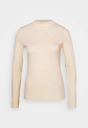 MOCK NECK LONGSLEEVE - T-shirt à manches longues - soft creme beige
