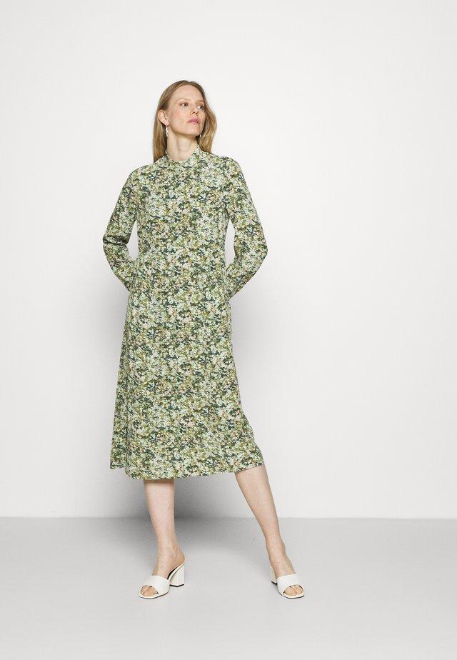 DRESS LONGSLEEVE - Korte jurk - multi/fresh herb
