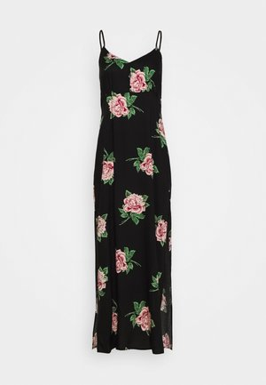 STACEY FLORAL STRAPPY DRESS - Maxikjole - black