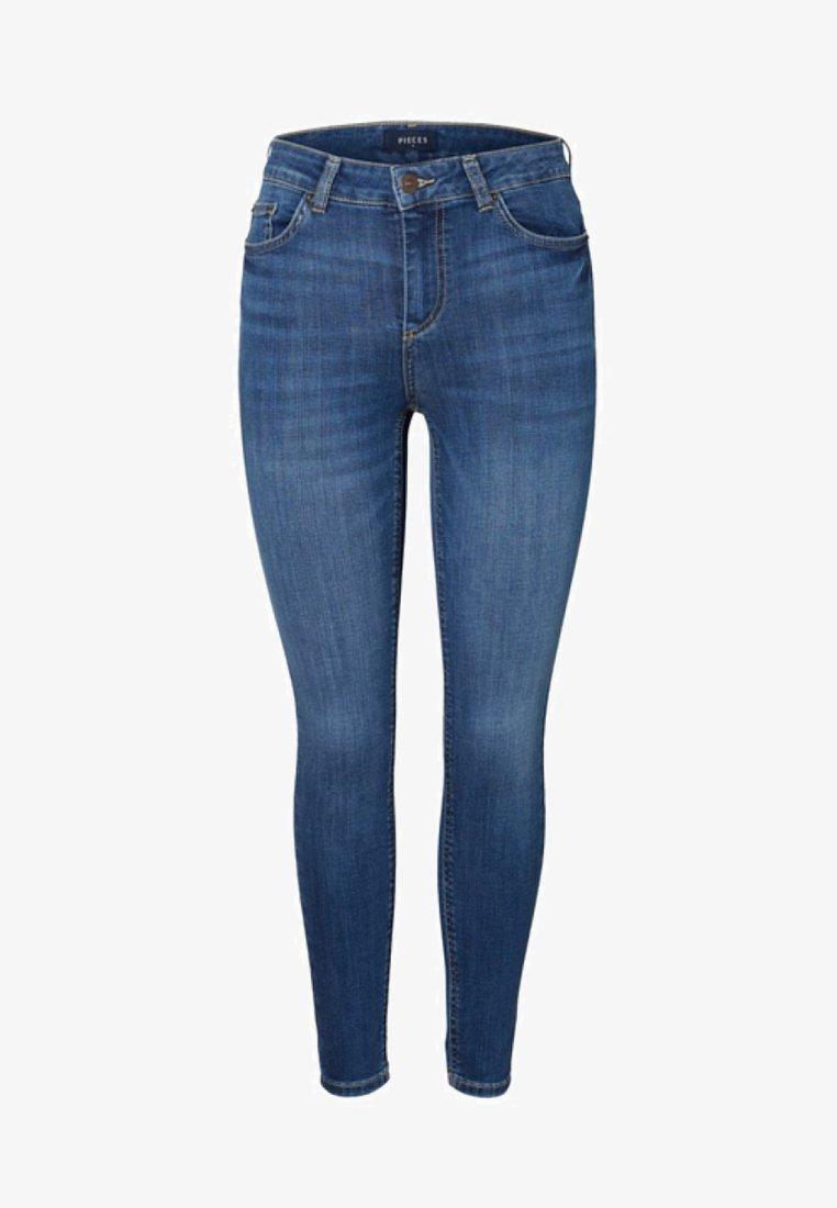 Pieces - Slim fit jeans - medium blue denim