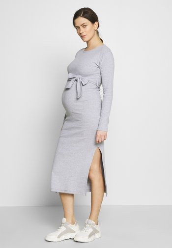 SOFT SPLIT SIDE BELTED DRESS