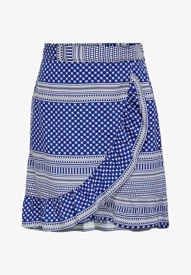 WICKELEFFEKT - A-snit nederdel/ A-formede nederdele - mazarine blue