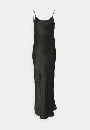 RUNNING WATER BIAS SLIP DRESS - Maxi šaty - black