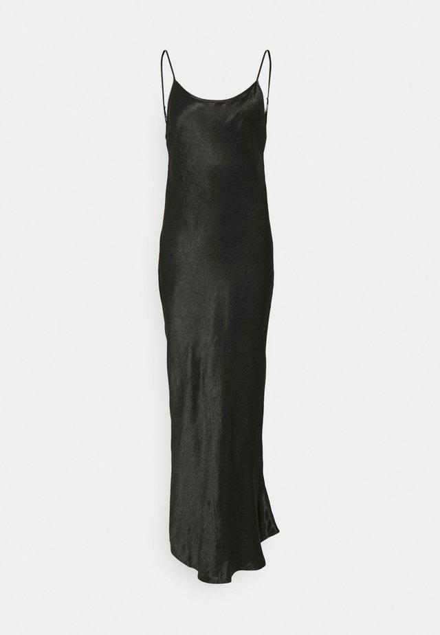 RUNNING WATER BIAS SLIP DRESS - Długa sukienka - black