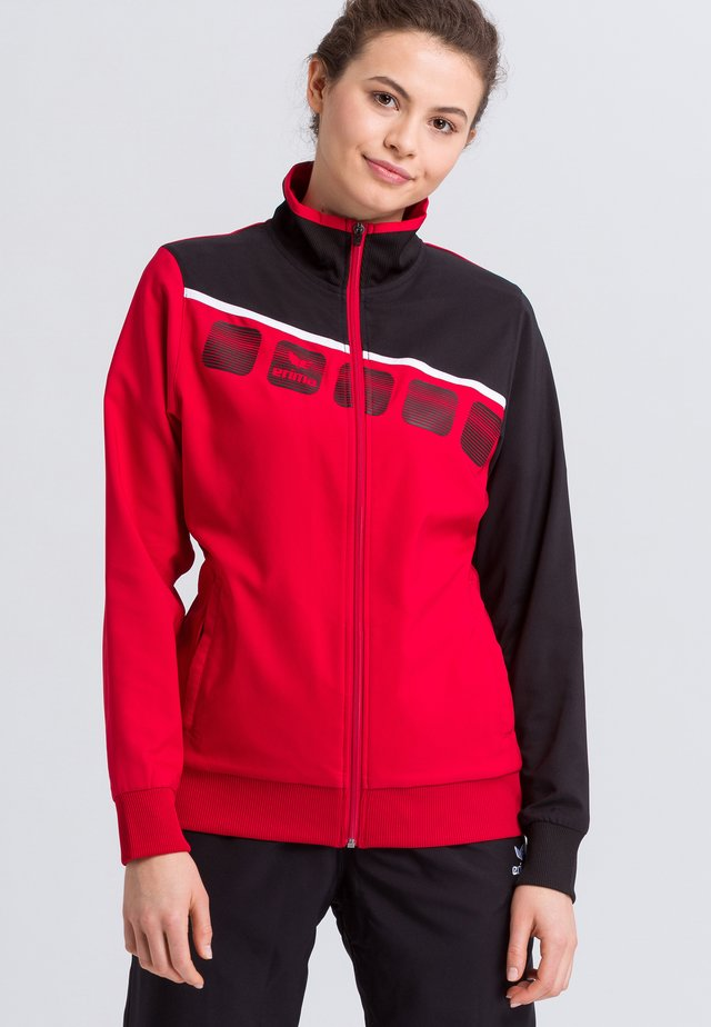 Sports jacket - red/black/white