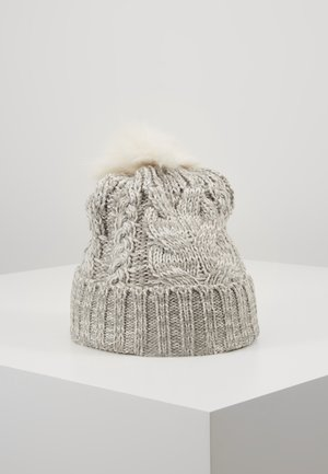 GIRL CABLE HAT - Čepice - grey heather