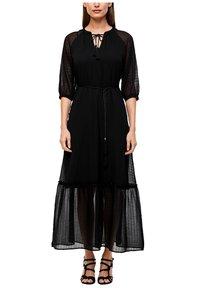 s.Oliver BLACK LABEL - CHIFFONKLEID MIT TRANSPARENZ-EFFEKT - Maxi dress - black - 0