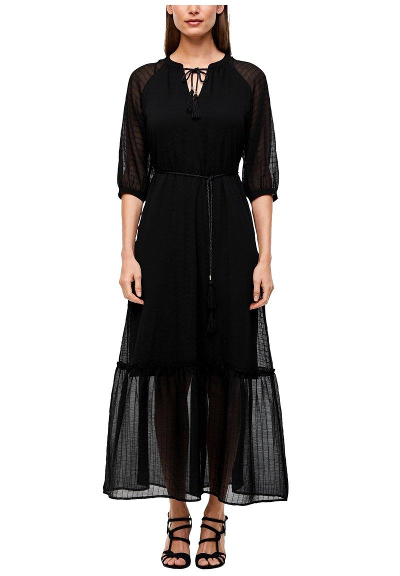 s.Oliver BLACK LABEL - CHIFFONKLEID MIT TRANSPARENZ-EFFEKT - Maxi dress - black