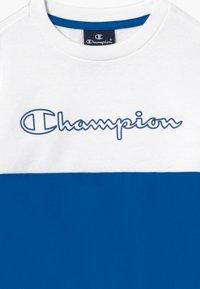 Champion - LEGACY BLOCK  CREWNECK - Sweater - royal blue/white - 3