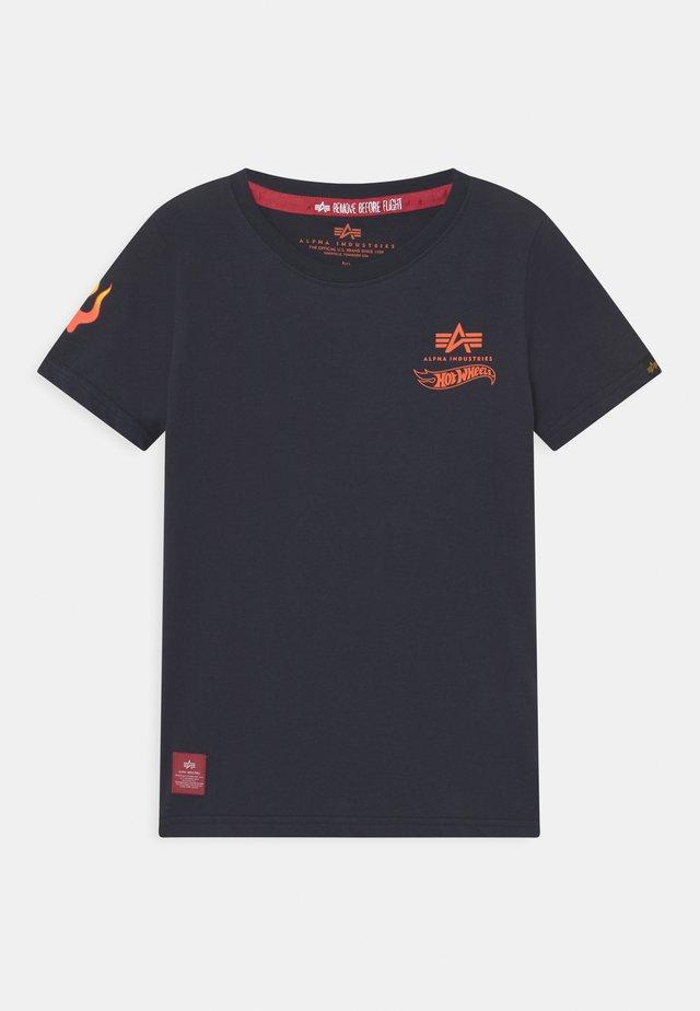 FLAME  - Print T-shirt - dark blue