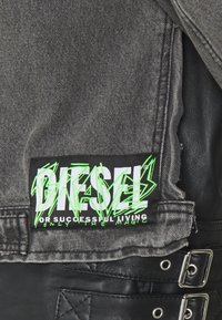 Diesel - L-IVAN JACKET - Leather jacket - black - 2