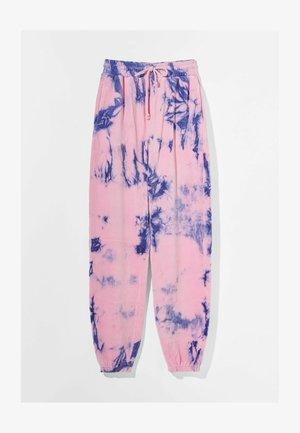 MIT TIE-DYE-PRINT  - Pantalon de survêtement - mauve
