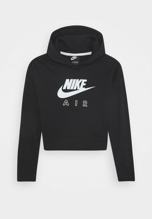 AIR CROP HOODIE - Luvtröja - black/white